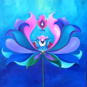 "Lipson, 2014, Lotus 1, 24"" x 24"", acrylic on canvas"