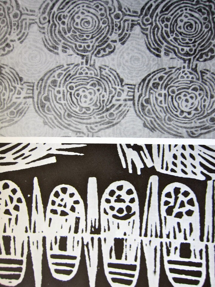 Design on Fabrics by Meda Parker Johnston and Glen Kaufman, 1967, Reinhold Publishing. Page Detail 2.