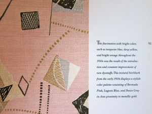Fabulous Fabrics of the 50s by Gideon Bosker, Michele Mancini, John Gramstad, 1992, Chronicle Books, page detail