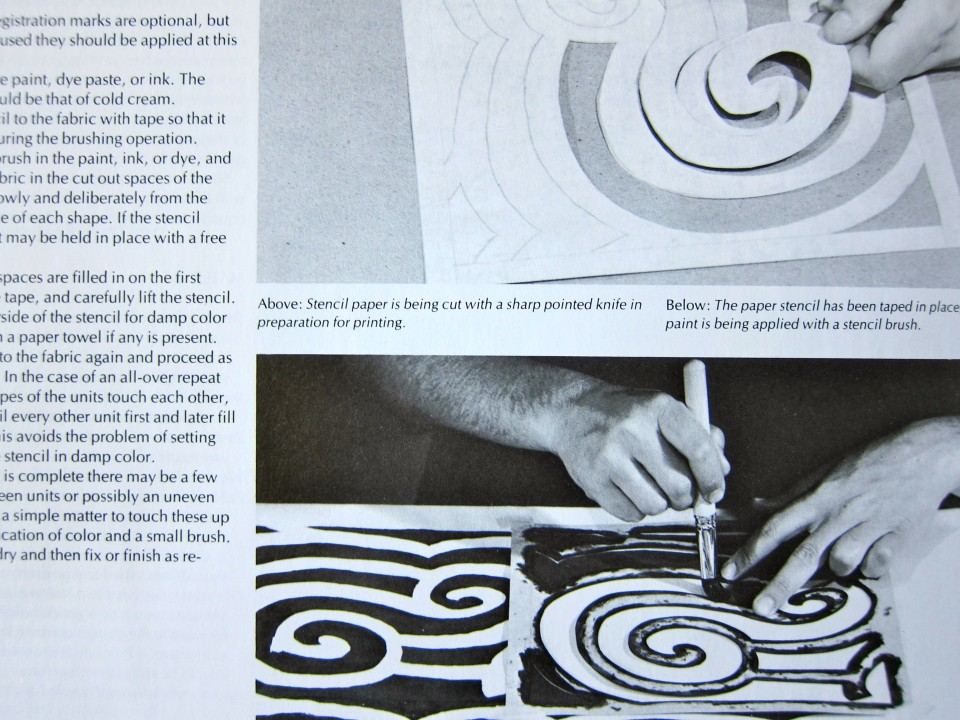 Surface Design for Fabric by Richard M. Proctor and Jennifer F. Lew, 1984, University of Washington Press. Page detail.